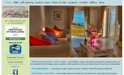 Wordpress content managed site - Chesil Beach Lodge, Burton Bradstock, Dorset
