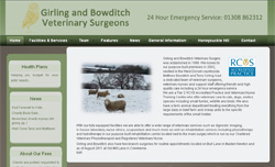 Wordpress content managed site - Girling & Bowditch Vets, Beaminster, Crewkerne and Maiden Newton