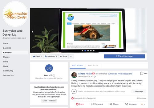 Sunnyside Web Design Ltd Facebook Page